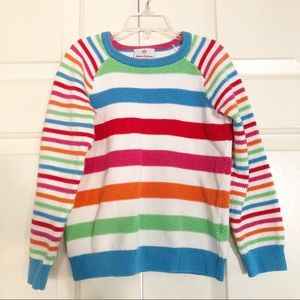Girls Hanna Andersson knit sweater stripes